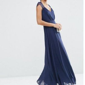 ASOS Kate Lace Maxi Dress- Navy Blue